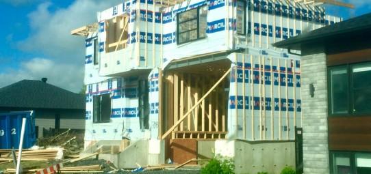 Construction en cours à Chambly